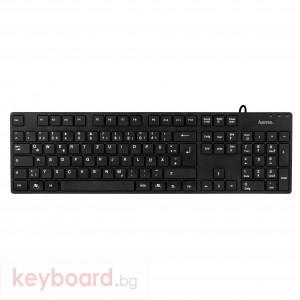 Клавиатура HAMA Тънка нископрофилна мултим. клавиатура К681 черна, USB