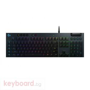 Геймърска клавиатура LOGITECH G815 LIGHTSYNC RGB Mechanical Gaming Keyboard – GL Clicky - CARBON