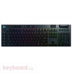 Геймърска клавиатура LOGITECH G915 LIGHTSPEED Wireless RGB Mechanical Gaming Keyboard - GL Tactile - CARBON