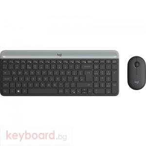 Клавиатура LOGITECH Slim Wireless Keyboard and Mouse Combo MK470 - GRAPHITE