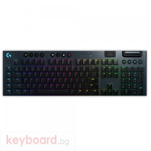 Геймърска клавиатура LOGITECH G915 LIGHTSPEED Wireless RGB Mechanical Gaming Keyboard-GL Clicky - N/A - US INT`L - 2.4GHZ/BT - N/A - INTNL - CLICKY SWITCH