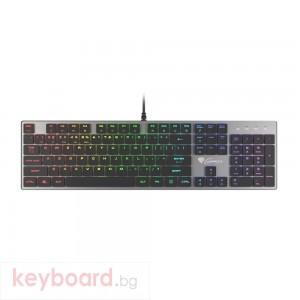 Клавиатура GENESIS Mechanical Gaming Keyboard Thor 420 RGB Backlight Content Slim Blue Switch US Layout