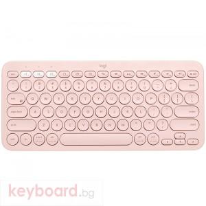 Клавиатура LOGITECH K380 Multi-Device Bluetooth Keyboard - UK English (Qwerty) - Rose