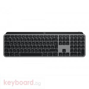 Клавиатура LOGITECH MX Keys for Mac Advanced Wireless Illuminated Keyboard - SPACE GREY - US INTL - 2.4GHZ/BT - N/A - EMEA