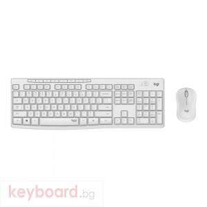 Клавиатура LOGITECH MK295 Silent Wireless Combo - OFF WHITE - US INTL - 2.4GHZ - INTNL