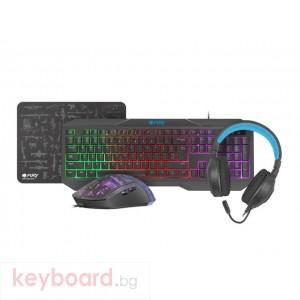 Клавиатура FURY Gaming Combo Set 4in1 Thunderstreak 3.0 Keyboard + Mouse + Headphones + Mousepad
