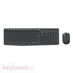 Клавиатура LOGITECH MK235 Wireless Keyboard and Mouse Combo - Grey - US INTL