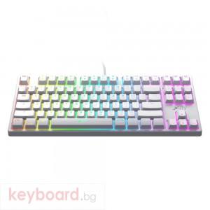 Геймърскa механична клавиатура Xtrfy K4 TKL White RGB Kailh Red Switch, US Layout
