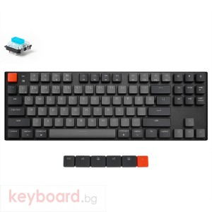 Геймърска Механична клавиатура Keychron K1 TKL Gateron Low Profile Blue Switch White LED Gateron Low Profile Blue Switch ABS