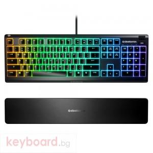 Геймърскa клавиатура SteelSeries Apex 3 Quiet Switch