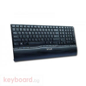 Клавиатура DELUX DL-K1880U/USB/BLACK/BULG USB 1.1