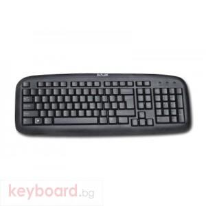 Клавиатура DELUX DLK-6100/PS2/BULG/BLACK PS/2