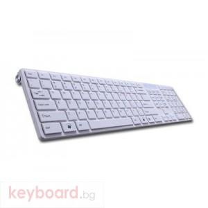Клавиатура DELUX DLK-1000/USB/WHITE/COVER/BULG USB 2.0