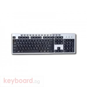 Клавиатура DELUX CMK1/PS2/SILVER/BLACK/BULG PS/2