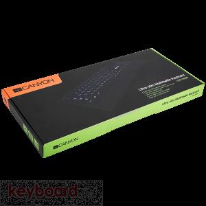 Клавиатура CANYON CNS-HKB6-BG USB тънка мултимедийна