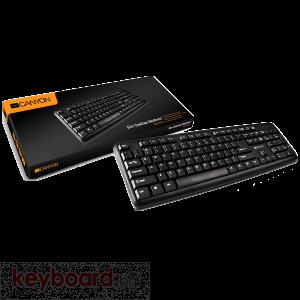 Клавиатура CANYON CNE-CKEY01-BG USB