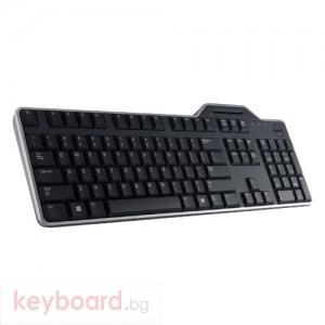 Клавиатура Dell KB813 USB US черна, smartcard reader