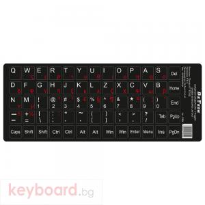 Букви за клавиатура DeTech,Гръцки и латиница, Черен