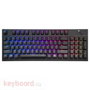 Геймърска механична клавиатура Cooler Master MasterKeys Pro M RGB, Червени Суичове
