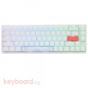 Геймърскa механична клавиатура Ducky One 2 SF White RGB, Cherry MX Blue