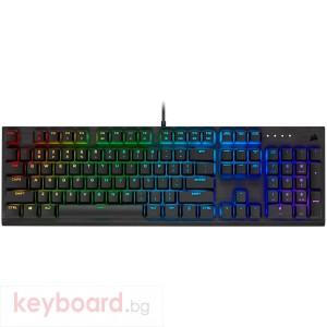 Геймърска клавиатура CORSAIR Wired, USB 3.0