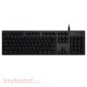 Геймърска механична клавиатура Logitech G512 Carbon GX Blue Clicky