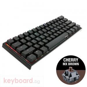 Геймърскa механична клавиатура Ducky One 2 Mini RGB, Cherry MX Brown