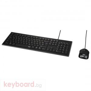 Жичен комплект клавиатура и мишка HAMA Cortino, USB, с кабел, черен