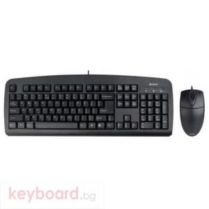 Комплект клавиатура и мишка A4TECH KB-72620, Жичен, Черен