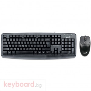 Комплект GENIUS KM-110X , USB клавиатура и оптична мишка