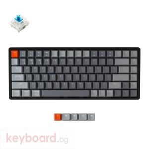 Геймърска Механична клавиатура Keychron K2 Aluminum Compact Gateron Blue Switch RGB LED Gateron Blue Switch ABS