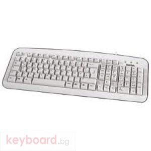 Клавиатура HAMA Стандартна клавиатура К210,бяла, USB