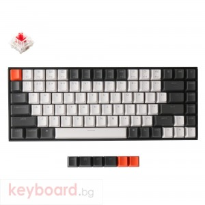 Геймърска Механична клавиатура Keychron K2 Hot-Swappable Compact Gateron Red Switch White LED Gateron Red Switch ABS
