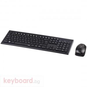 Комплект клавиатура и мишка HAMA Cortino, Безжичен, Черен