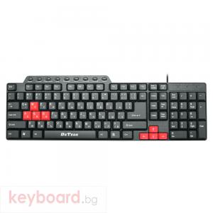 Мултимедийна клавиатура DeTech DE6085, USB, Кирилизирана, Черен