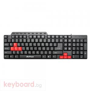 Мултимедийна клавиатура DeTech DE6086, USB, Черен