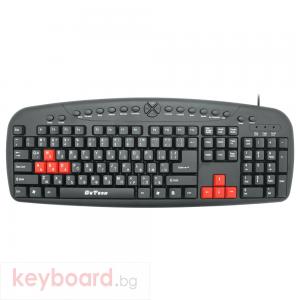 Мултимедийна клавиатура DeTech DE6087, Без опаковка, USB, Кирилизирана, Черен