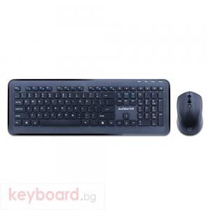 Комплект мишка и клавиатура No brand T8800, Безжични, Черен