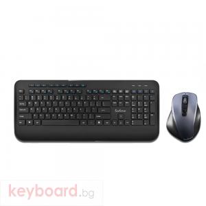 Комплект мишка и клавиатура No brand T8900, Безжични, Черен