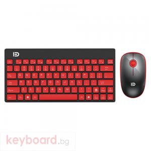 Комплект мишка и клавиатура No brand 1500, Безжични, Черен