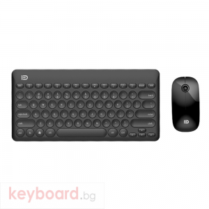 Комплект мишка и клавиатура No brand IK6620, Безжични, Черен