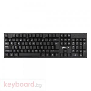 Клавиатура Mixie X7, USB, Черен