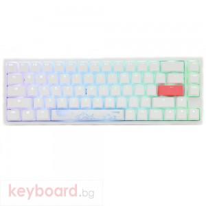 Геймърскa механична клавиатура Ducky One 2 SF White RGB, Kailh BOX Red