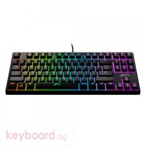 Геймърскa механична клавиатура Xtrfy K4 TKL RGB Kailh Red Switch, US Layout