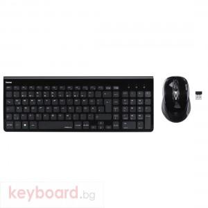Комплект клавиатура и мишка HAMA Trento, Безжичен, Черен