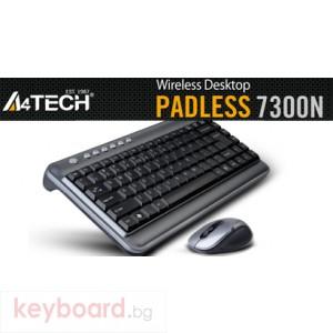 Клавиатура A4 TECH 7300N Комплект мини безжични клавиатура и мишка