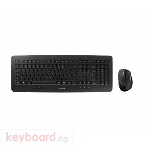 Комплект клавиатура с мишка CHERRY DW 5100, безжичен, 2.4 GHz, Черен