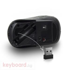 Безжичен комплект клавиатура и мишка Ewent EW3193, Безжичен, Черни