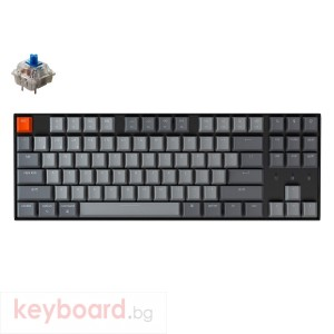 Геймърска Механична клавиатура Keychron K8 Hot-Swappable TKL Gateron Blue Switch White LED Gateron Blue Switch ABS
