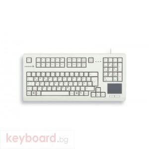Компактна жична клавиатура CHERRY G80-11900 с Trackball, сива